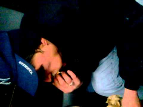 Drunk guy eats boston cream doughnuts on bus part2