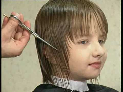 Стрижка для маленькой девочки на длинные волосы