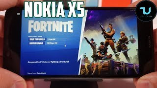 Nokia X5 Fortnite Gameplay/PC Game on Android/Vortex App/Helio P60