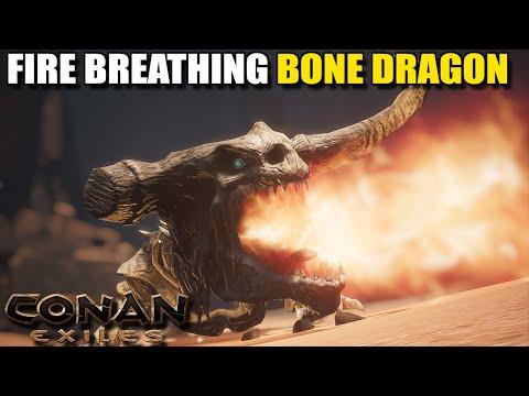 THE FIRE BREATHING BONE DRAGON | CONAN EXILES [GAMEPLAY E6] |
