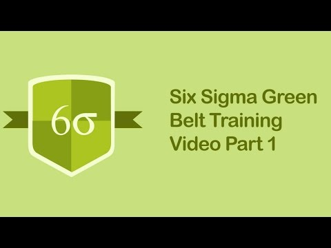 Six Sigma Green Belt Training Video | Six Sigma Tutorial Videos Part 1