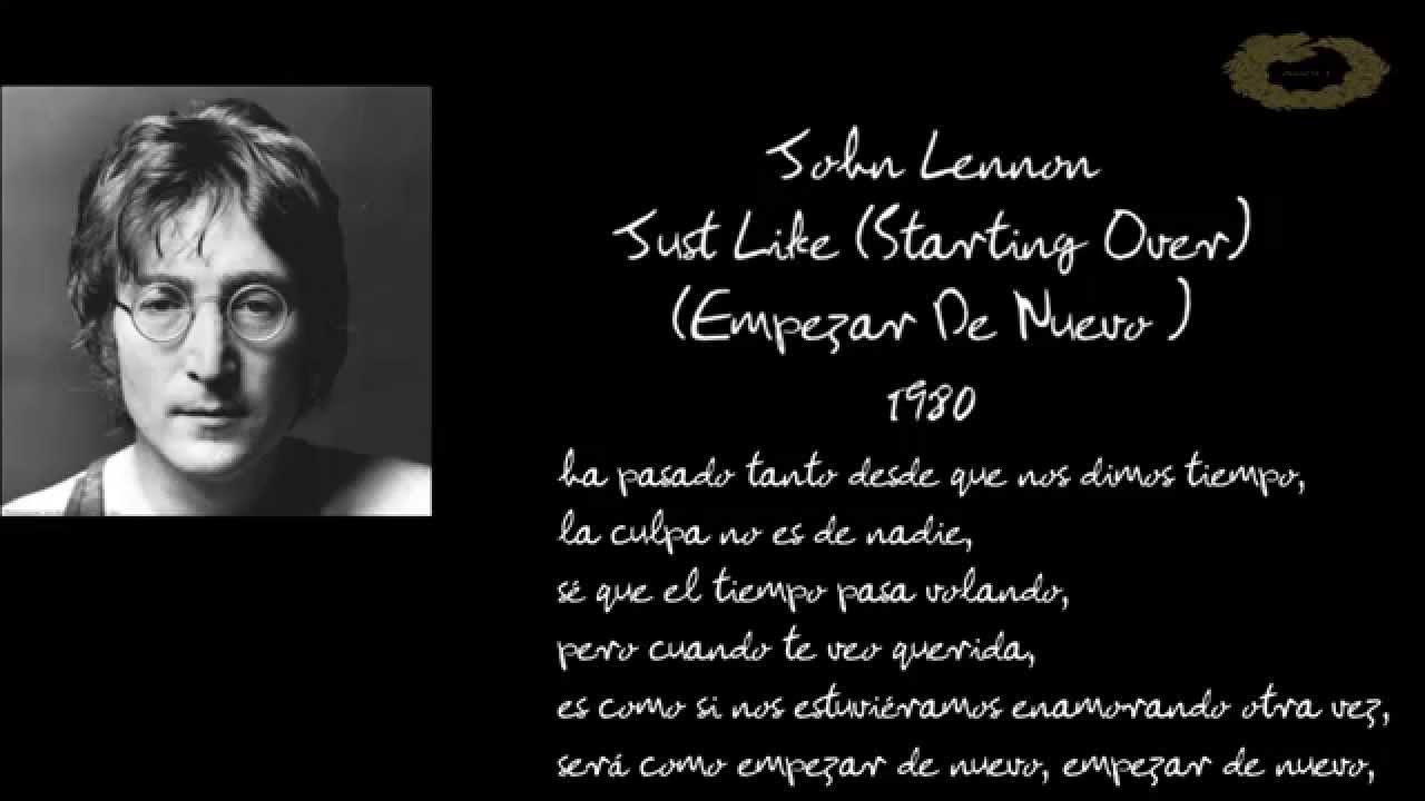 60841955ca John Lennon   Just Like (Starting Over)   Sub Español  HD - YouTube