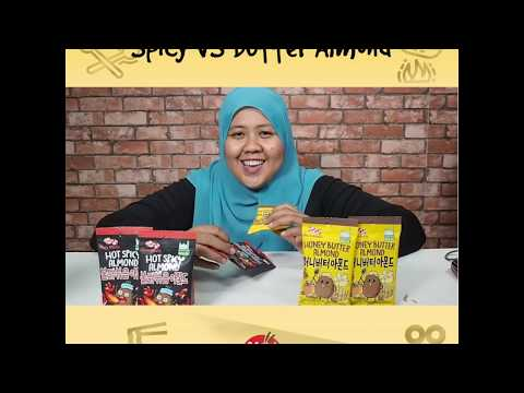 Review Nut Holics Honey Butter Almond and Spicy Almond