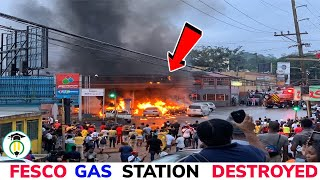 7 Injuried, 12 vehicles damage in Mandeville gas station fire 🇯🇲