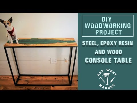 Making a STEEL, EPOXY RESIN AND WOOD Console Table / River Table