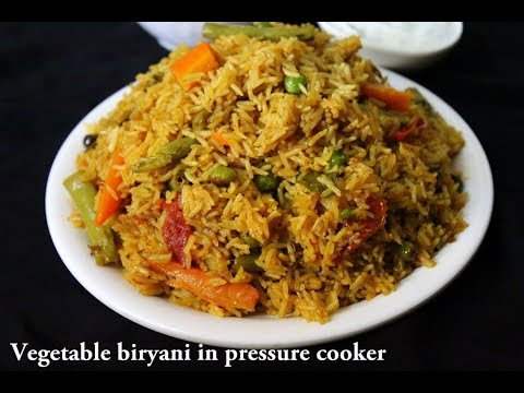 Veg Biryani In Cooker How To Make Vegetable Biryani In Cooker Easy Pressure Cooker Biryani Youtube