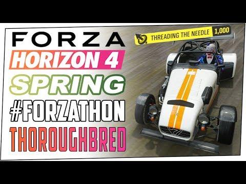 Thoroughbred Spring #FORZATHON - FORZA HORIZON 4 - How To Get Threading The Needle Skills & More