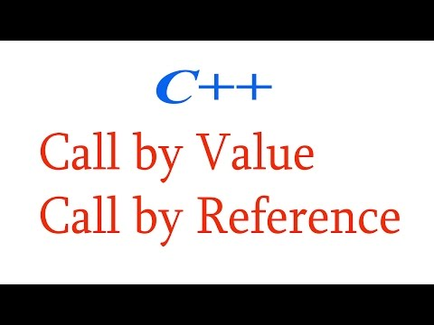 Call by value Call by reference C++ Programming