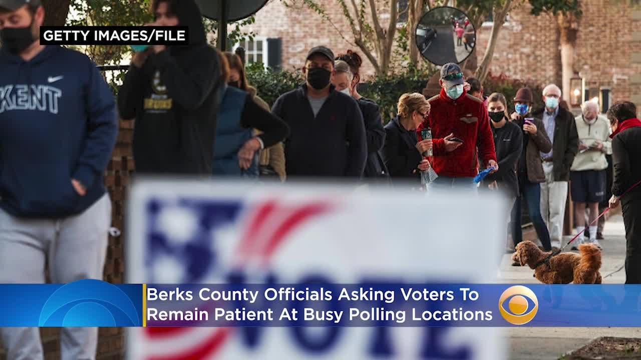Berks County Officials Asking Voters To Remain Patient As County Sees Large Turnout At Polling Locat