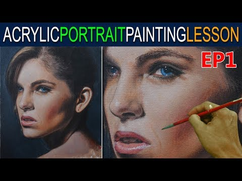 Acrylic Portrait Painting Tutorial | Ep 1 | Beautiful Lady in Step by Step by JM Lisondra