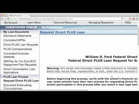 Getting To The Graduate PLUS Loan Application