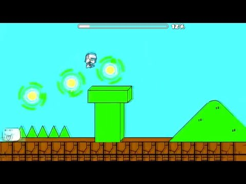 cat mario! Syobon Action by Sweetdude geometry dash 2.0 - jewelbr