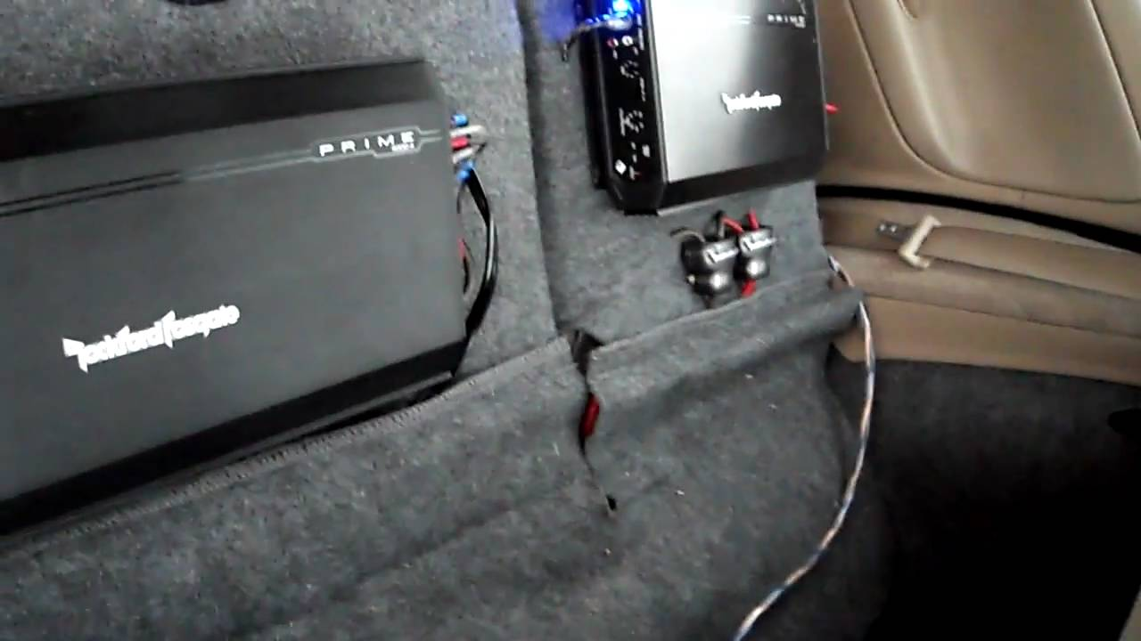 hight resolution of dual amplifier rockford fosgate prime series system walk through