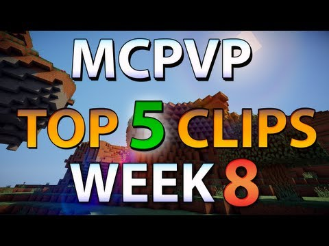 Minecraft PVP | MCPVP Top 5 Clips | Week 8 - Crazy Battle from YouTube · Duration:  5 minutes 4 seconds
