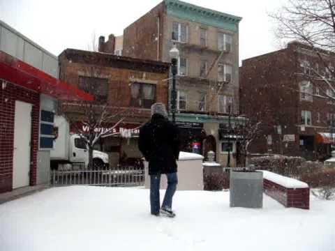 New Rochelle com neve - Jan 19,2009 - Library - part II