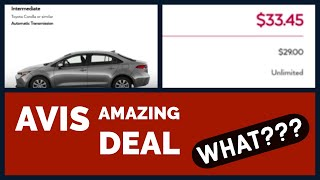 Avis/Budget 1-Way Rental for 35% Off - Amazing Car Rental Deal