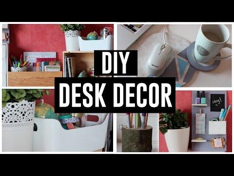 • DIY DESK DECOR / DIY DECORATION DE BUREAU 2017 • Coockies Fantasy