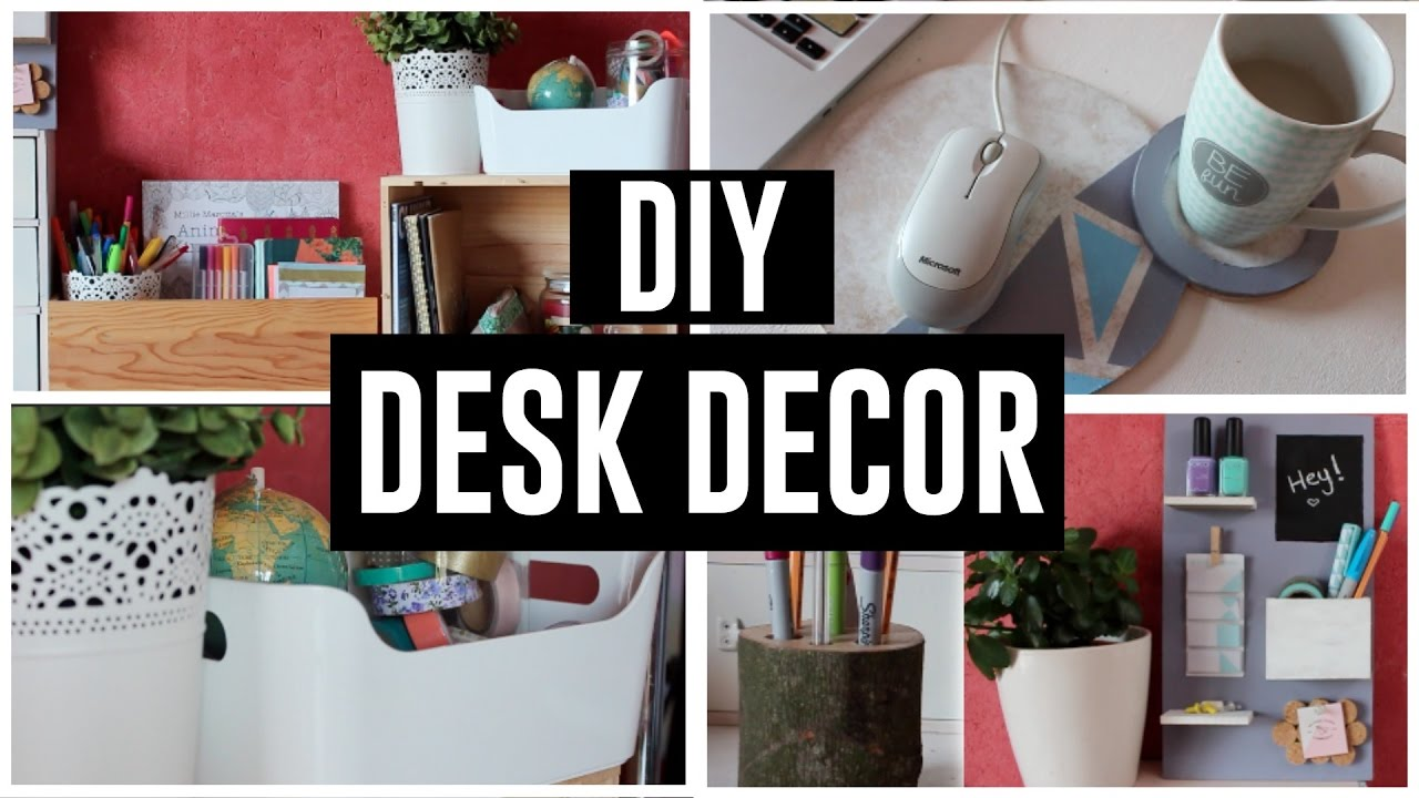 DIY DESK DECOR / DIY DECORATION DE BUREAU 2017 • Coockies Fantasy ...