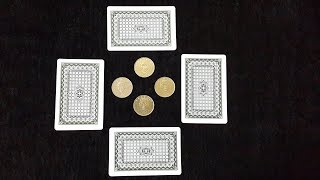 Amazing Card And Coin Magic Trick You Can Do