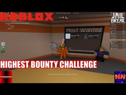 Roblox: JailBreak: HIGHEST BOUNTY Challenge with NubNeb