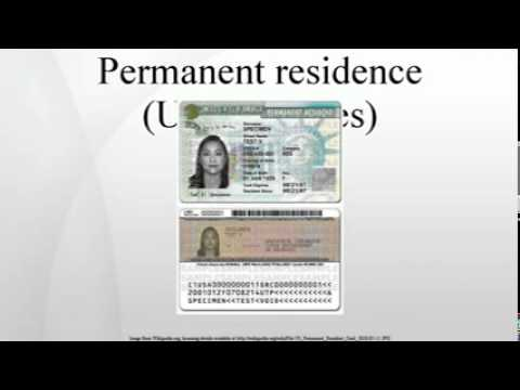 Permanent residence (United States)