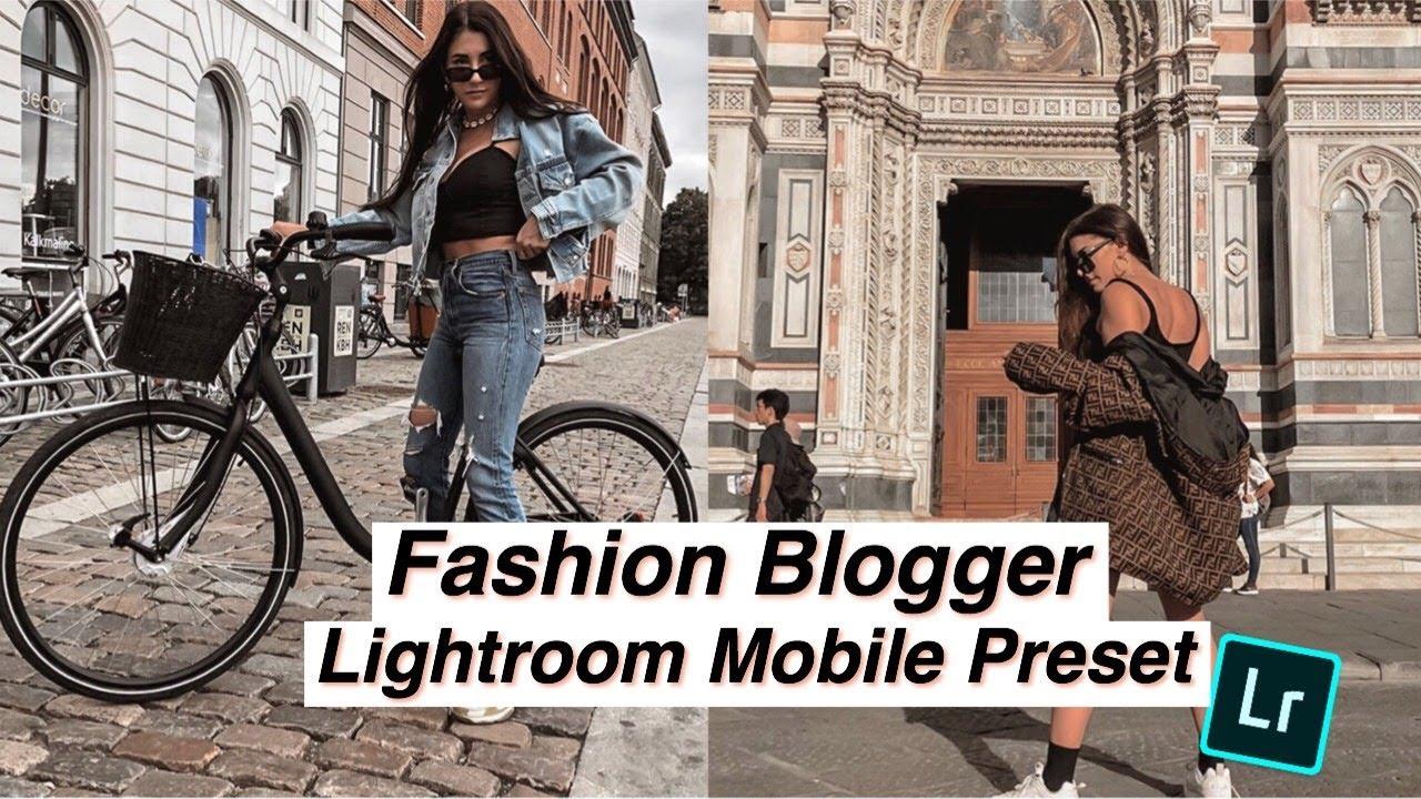 FASHION BLOGGER LIGHTROOM MOBILE PRESET FREE // How to edit (Warm Filter)