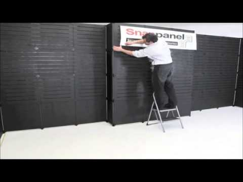 Trade Show Booth Walls : Slat wall trade show display panels youtube