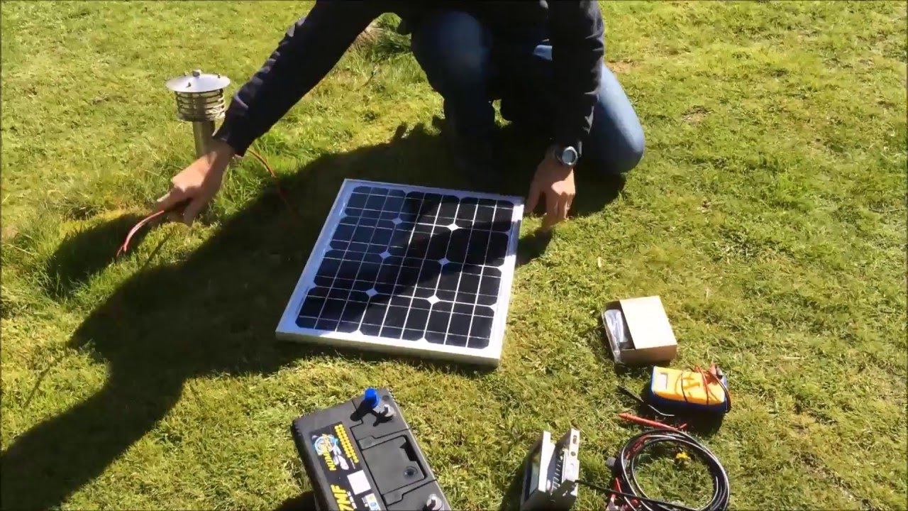 How To Set Up A Solar Panel Charge Controller And Battery Free Wiring Diagram Together With Charger Circuit On Electricity Part 1 Youtube