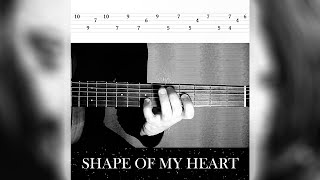 Shape of My Heart (Sting) | Guitar Lesson + TAB #Shorts