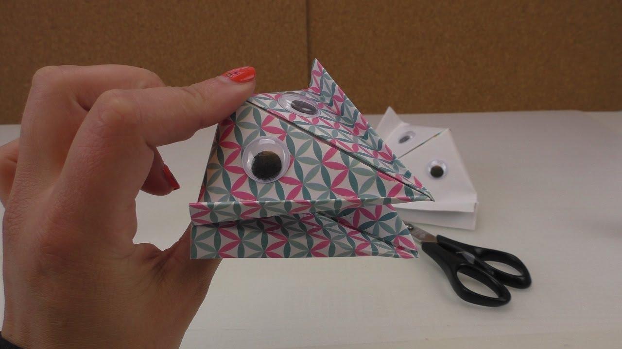 Schnapptiere Falten Einfaches Origami Fur Kinder Bastel Ideen