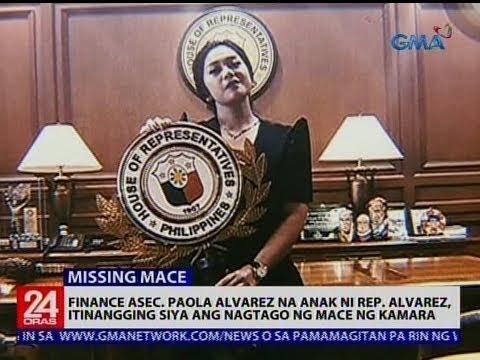 Finance Asec. Paola Alvarez na anak ni Rep. Alvarez, itinangging siya ang nagtago ng mace ng Kamara