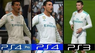 FIFA 18 | PS4 Pro VS PS4 VS PS3 Graphics Comparison