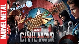 Captain America Civil War Official Trailer Music Theme Song HD – Civil War Soundtrack – Guitar Cover