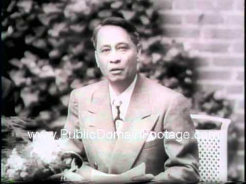 President Roxas Philippines meets Truman and gives speech Newsreel PublicDomainFootage.com