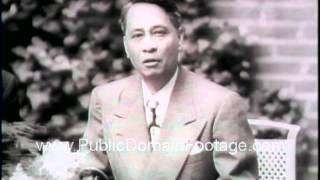 President Roxas Philippines meets Truman and gives speech Newsreel PublicDomainFootage.com