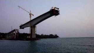 Bridge to Morakot Island from SihanoukVille, Cambodia.