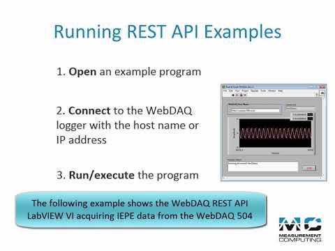 WebDAQ REST API Example Demo