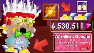 BUYING VALENTINE'S PACKS!! + GHC!! OMG!! | GrowTopia
