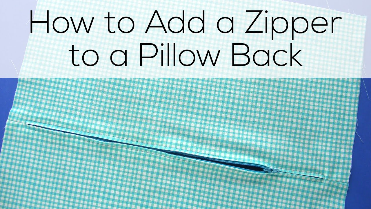 how to sew a zippered pillow cover a