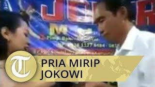 Viral Video Pria Mirip Jokowi Sawer Biduan Dangdut Saat Hajatan Ini Identitasnya