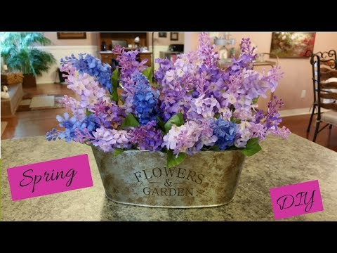 Dollar Tree Spring Floral Arrangement And Container DIY Easy