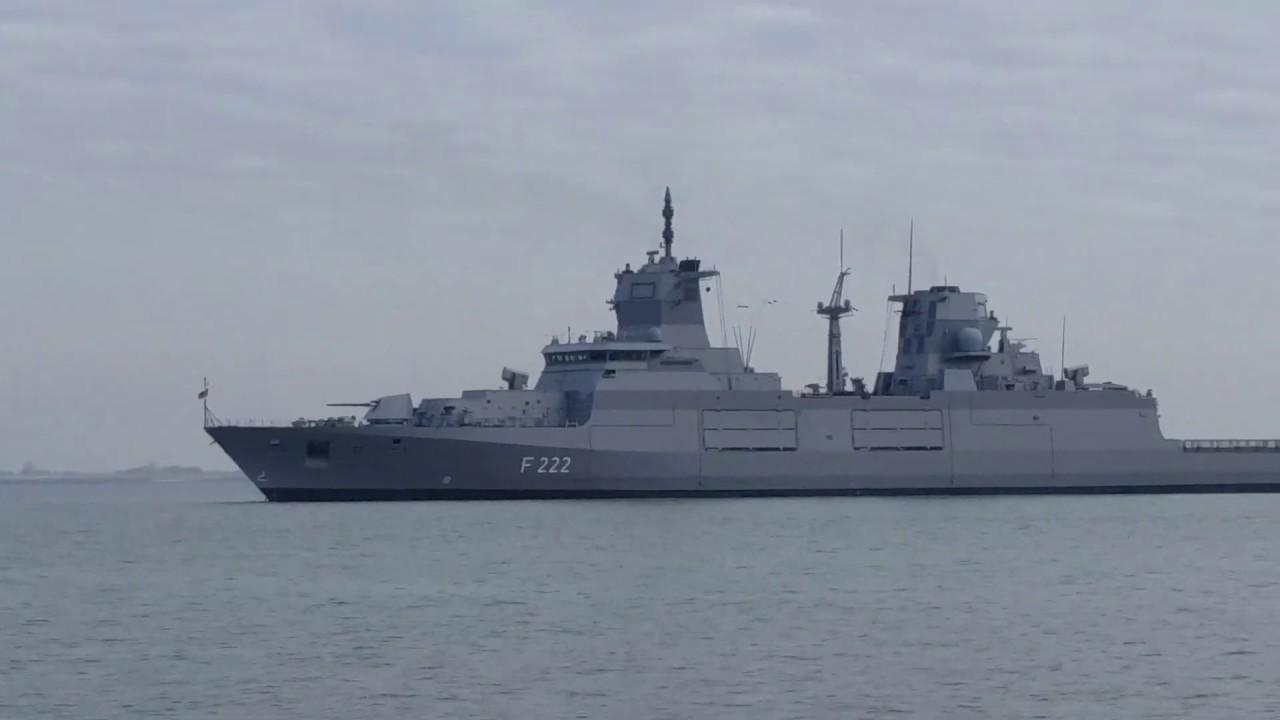 Sea Lynx Low Pass Over Baden W 252 Rttemberg Class Frigate