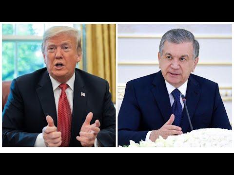 Tramp, Mirziyoyev: koronavirusga