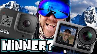 GoPro 8 vs Osmo Action - Snowboarding