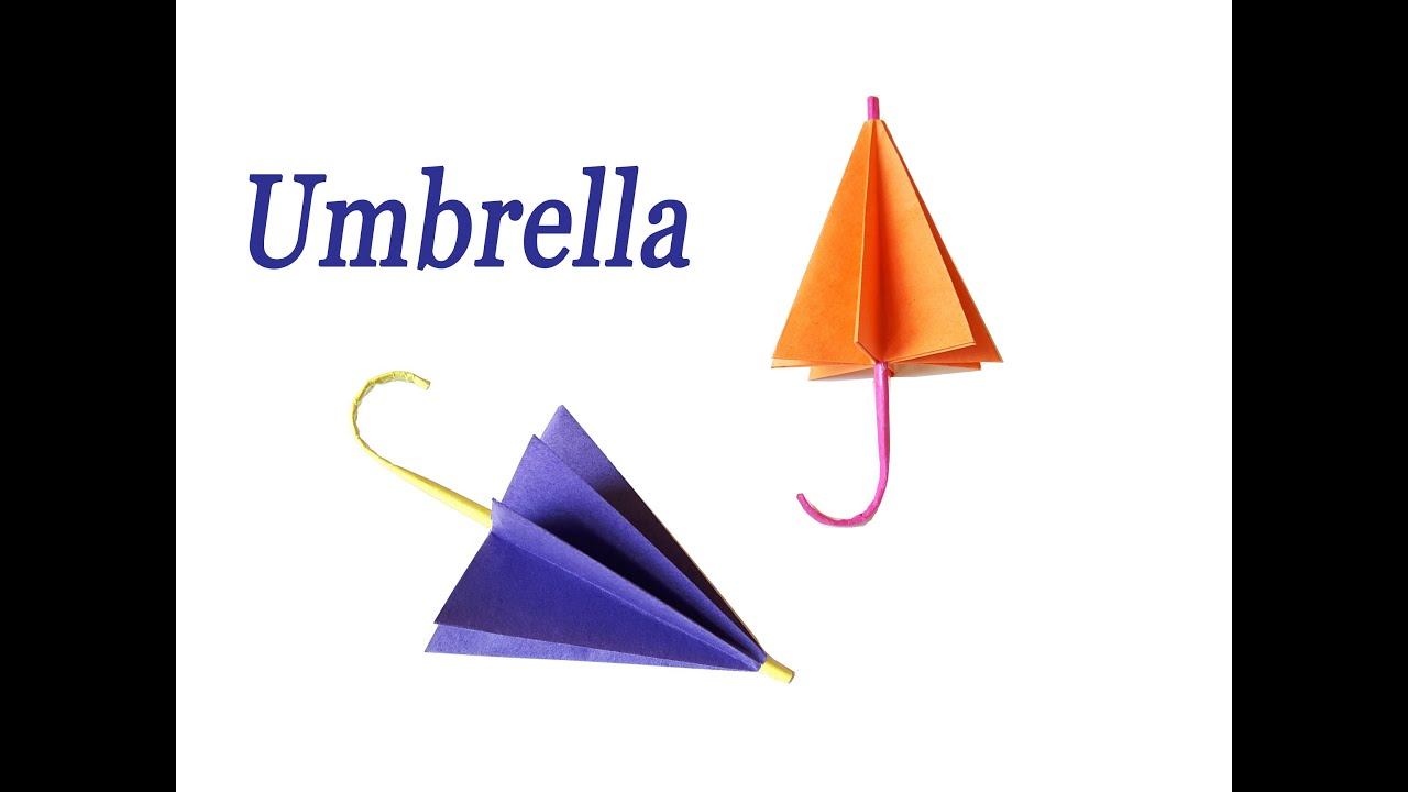 how to make a paper umbrella easy origami youtube