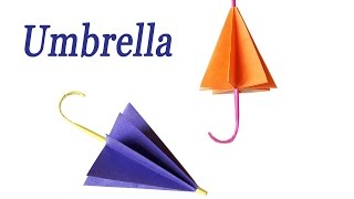 Kids Craft Easy Origami Paper Umbrella DIY Tutorial | Paper crafts ... | 180x320