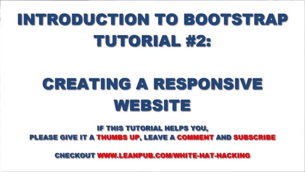 bootstrap css tutorial 2 how to create a responsive website with bootstrap