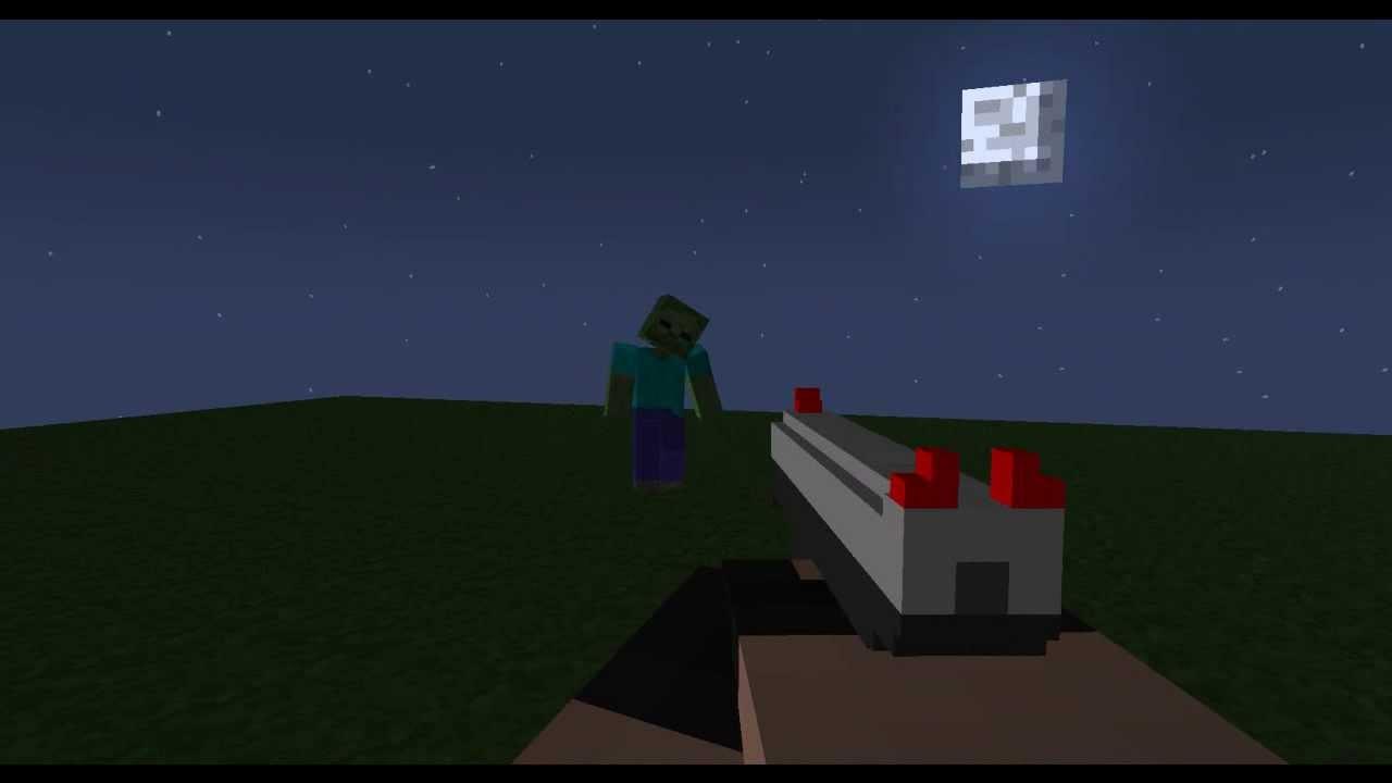Mine Imator 3d Gun Test Youtube