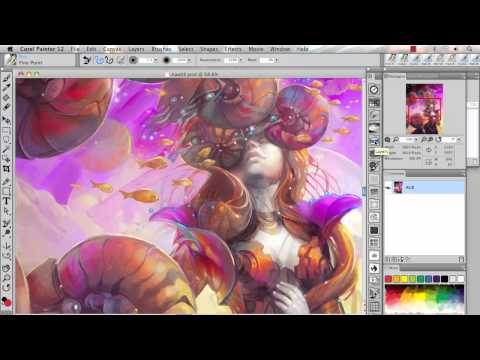 Enhanced Adobe® Photoshop® support in Corel® Painter™ 12