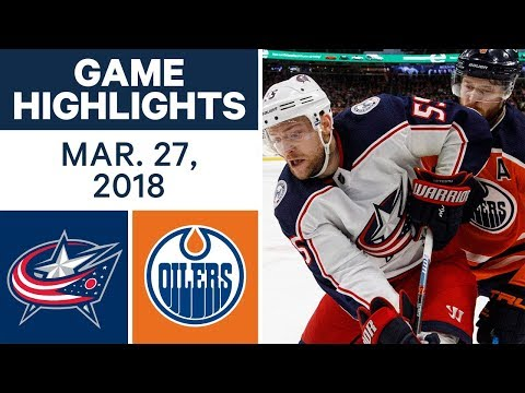 NHL Game Highlights | Blue Jackets vs. Oilers - Mar. 27, 2018